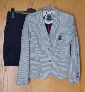 MORE&MORE / Blazer / Rock / Kombination / Kostüm / Streifen / Business / marineblau
