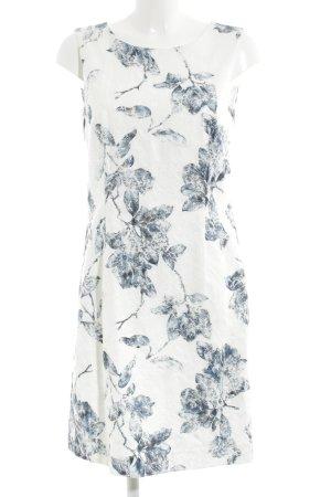 More & More Bleistiftkleid weiß-blau Blumenmuster Casual-Look
