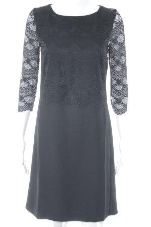 More & More Blusenkleid schwarz Blumenmuster Elegant