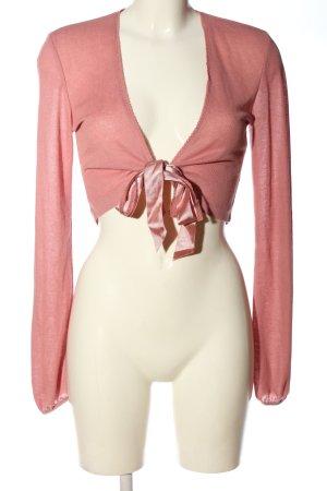 More & More Bolerko różowy W stylu casual