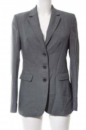 More & More Boyfriend-Blazer hellgrau Allover-Druck Business-Look