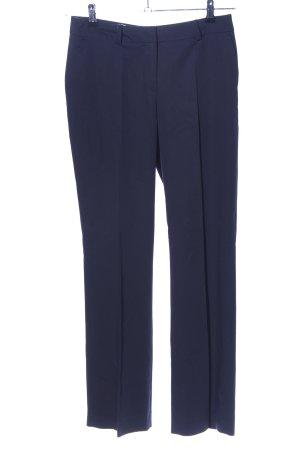 More & More Bundfaltenhose blau Business-Look
