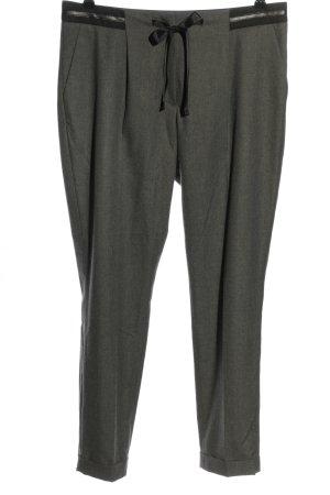 More & More Pantalon à pinces gris clair moucheté style d'affaires