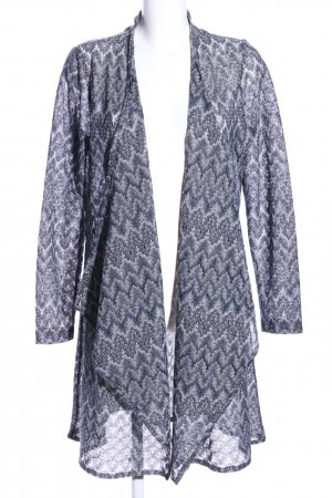More & More Cardigan weiß-blau grafisches Muster Casual-Look