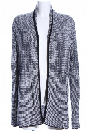 More & More Cardigan weiß-schwarz Allover-Druck Casual-Look