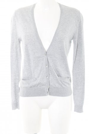 More & More Cardigan hellgrau abstraktes Muster Casual-Look