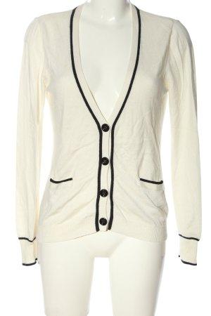 More & More Cardigan weiß-schwarz Streifenmuster Casual-Look
