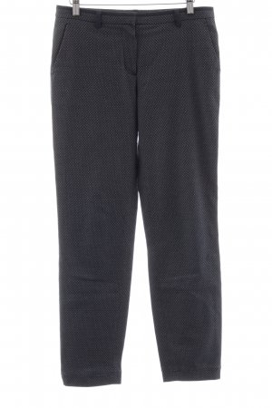 More & More Chinohose dunkelblau-weiß grafisches Muster Casual-Look