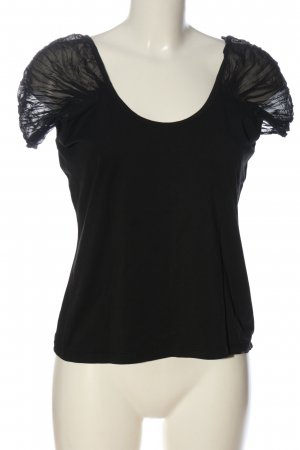 More & More Cropped Top schwarz Casual-Look