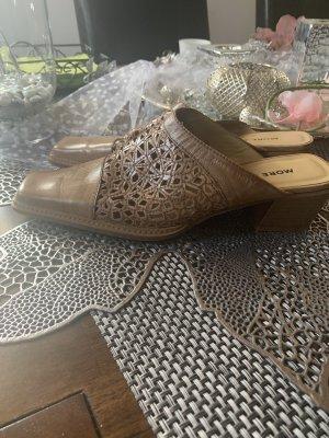 More & More Heel Pantolettes cognac-coloured
