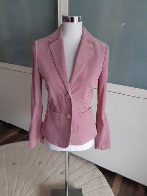 More & More Leren blazer lichtroze-roze Leer