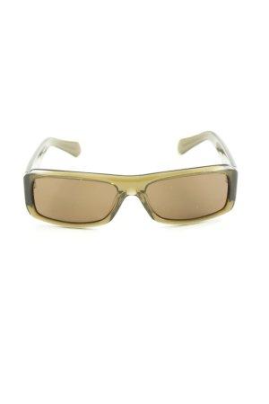 More & More Hoekige zonnebril khaki casual uitstraling