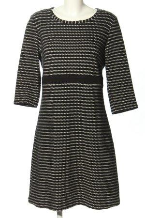 More & More A-Linien Kleid schwarz-weiß Allover-Druck Casual-Look
