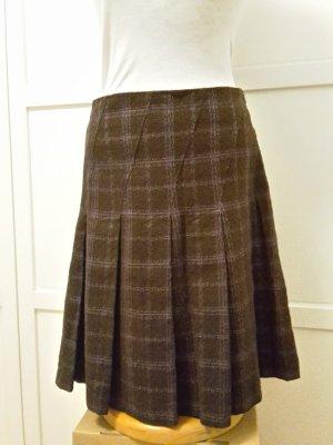 More & More Spódnica midi liliowy-brązowy Bawełna