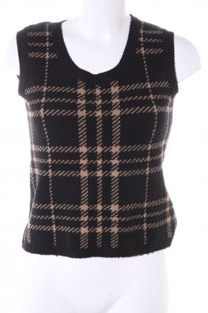 More & More Fine Knitted Cardigan black-brown check pattern casual look