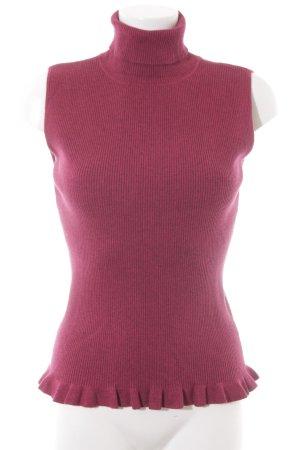 More & More Sweter bez rękawów z cienkiej dzianiny malina