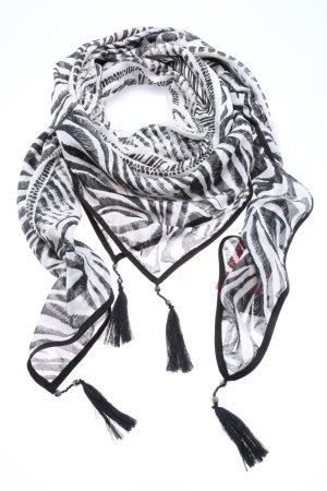 More & More Bufanda de flecos negro-blanco look casual
