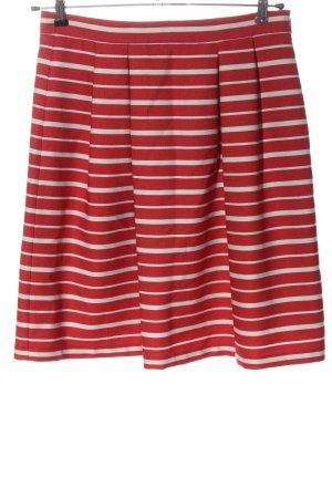 More & More Gonna a campana rosso-bianco motivo a righe stile casual
