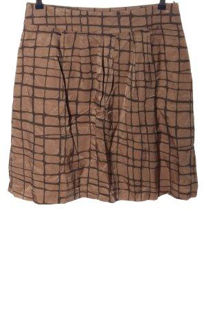 More & More Jupe évasée brun motif à carreaux style décontracté