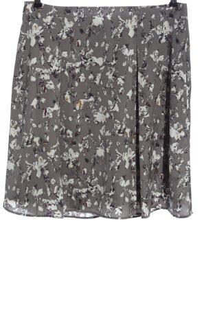 More & More Glockenrock hellgrau-weiß abstraktes Muster Casual-Look