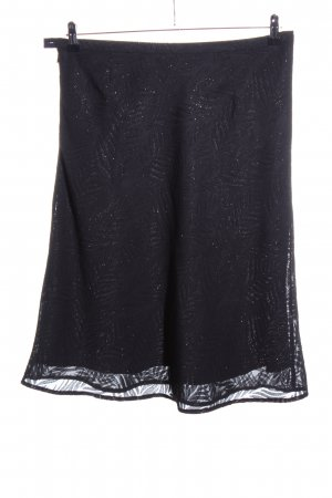 More & More Flared Skirt black flower pattern casual look