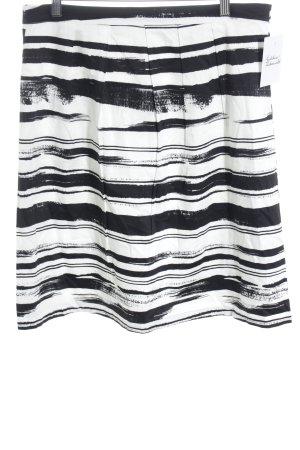 More & More Jupe évasée noir-blanc motif rayé style mode des rues