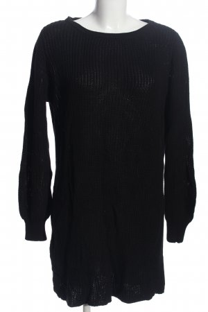 More & More Grobstrickpullover schwarz Zopfmuster Casual-Look