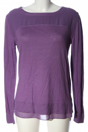 More & More Grobstrickpullover lila Casual-Look