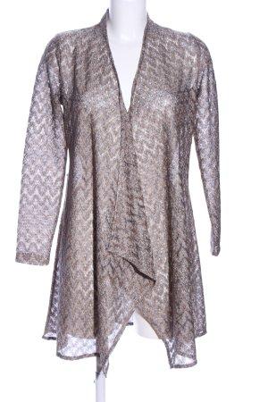 More & More Crochet Cardigan bronze-colored-silver-colored allover print elegant