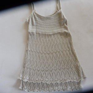 More & More Top en maille crochet beige clair coton
