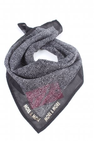 More & More Neckerchief light grey-white spot pattern casual look