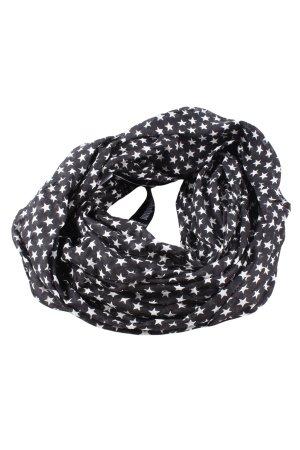 More & More Fazzoletto da collo nero-bianco motivo grafico stile casual