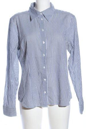 More & More Hemd-Bluse weiß-blau Allover-Druck Casual-Look