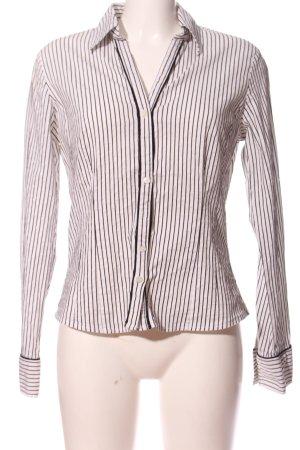 More & More Hemd-Bluse wollweiß-schwarz Streifenmuster Casual-Look