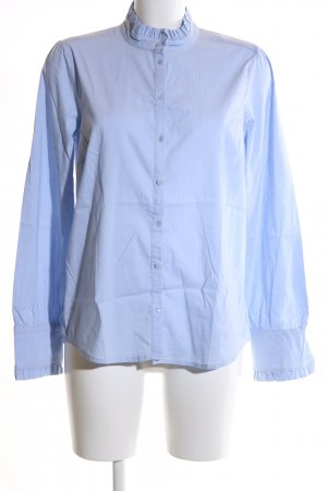 More & More Hemd-Bluse blau Business-Look