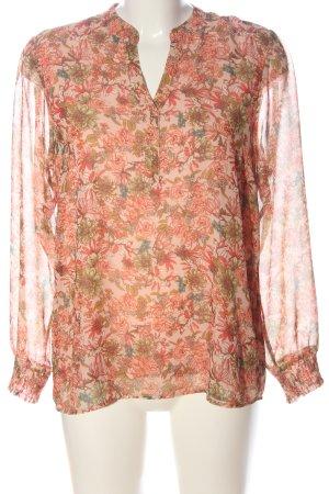 More & More Hemd-Bluse nude-rot Allover-Druck klassischer Stil