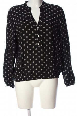 More & More Hemd-Bluse schwarz-weiß abstraktes Muster Casual-Look