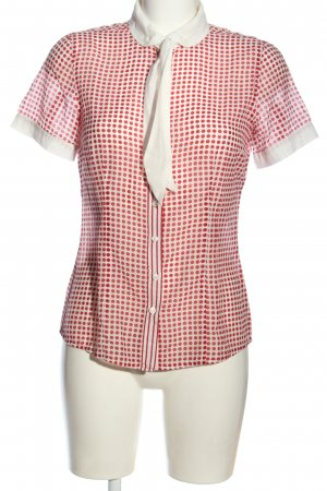 More & More Hemd-Bluse rot-weiß Punktemuster Casual-Look