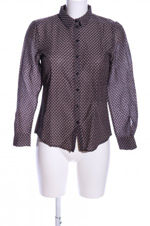 More & More Hemd-Bluse braun Allover-Druck Business-Look