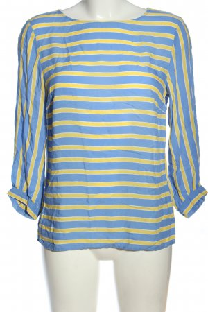 More & More Hemd-Bluse blau-blassgelb Streifenmuster Casual-Look