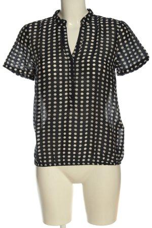 More & More Blusa-camisa negro-blanco puro look casual