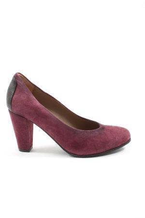 More & More High Heels pink-schwarz Elegant