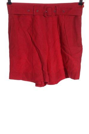 More & More Pantaloncino a vita alta rosso stile casual