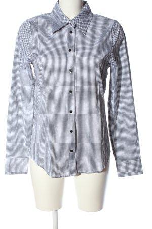 More & More Holzfällerhemd schwarz-weiß Karomuster Business-Look