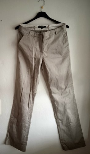 More & More High Waist Trousers light grey-oatmeal cotton
