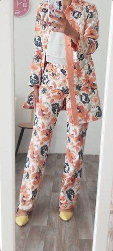 More & More Tailleur pantalone bianco-albicocca