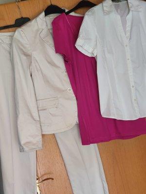 More & More Traje de pantalón beige claro Algodón