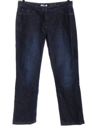 More & More Jeansy biodrówki niebieski W stylu casual