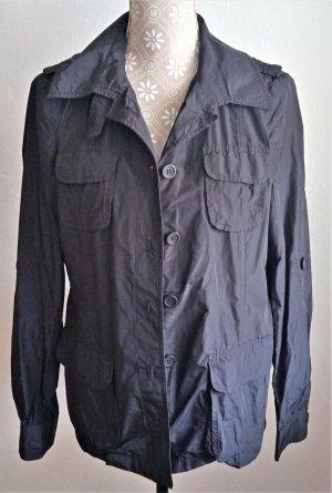 MORE MORE - Jacke, 40, schwarz, dezent glänzend, sommerlich, STYLISH