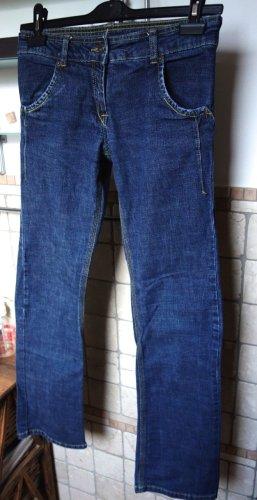More & More Jeansy z prostymi nogawkami ciemnoniebieski Bawełna